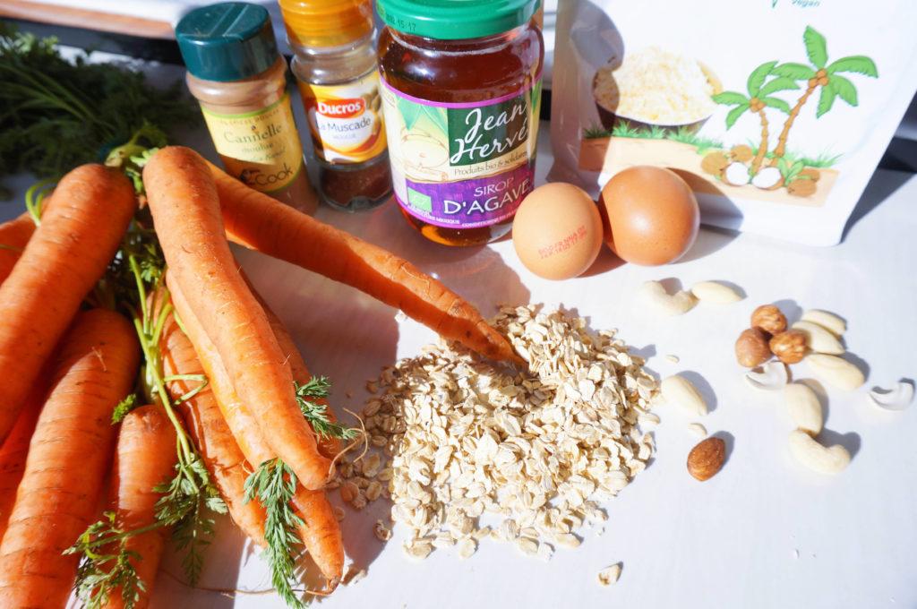 Ingrédients healthy cookie carotte - Mean Green Girl