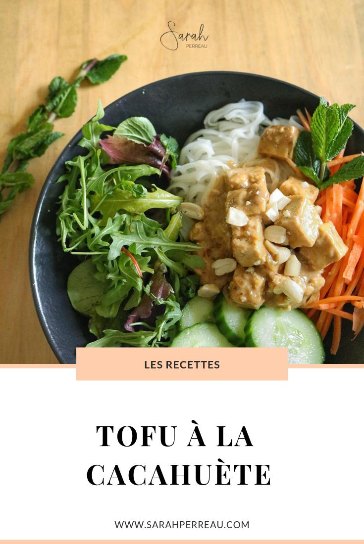 Tofu à la cacahuète