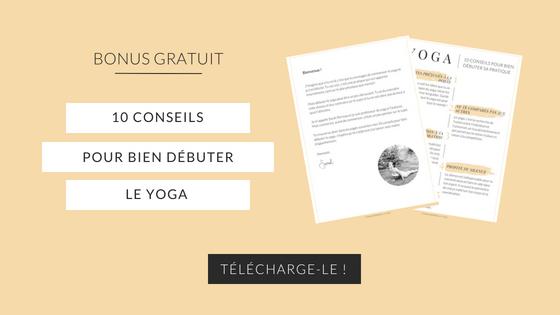 Bien débuter le yoga - bonus gratuit