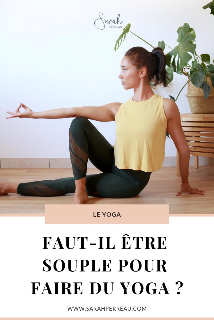 faut-il etre souple pour faire du yoga