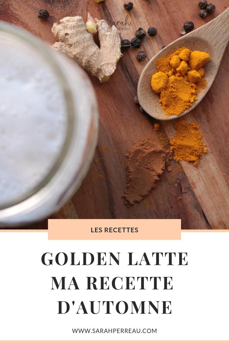 Golden latte, ma recette d'automne
