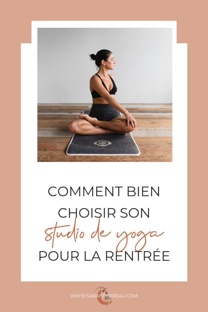 Choisir studio yoga Pinterest