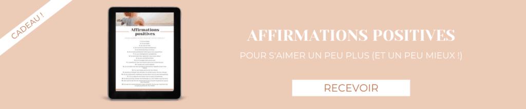 Blog banner - affirmations positives